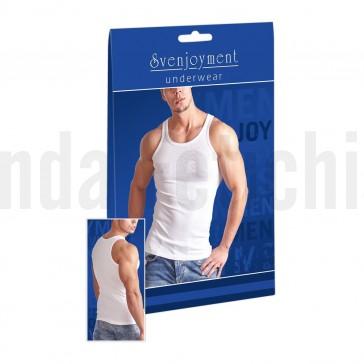 Camiseta interior blanca de tirantes. 100% algodón