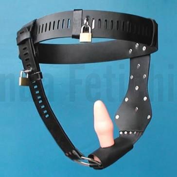 Cinturón de castidad femenino con dildo