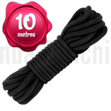 Cuerda negra de algodón para bondage