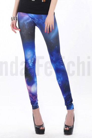Leggings azules cosmico