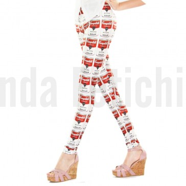 Leggings con estampado Pop Art