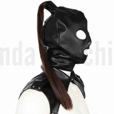 Mascara BDSM con coleta