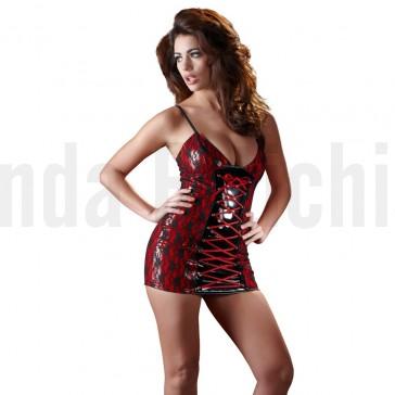 Mini vestido de vinilo