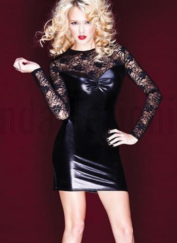 Vestido vinilo negro