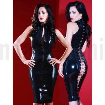 Vestido tipo pincel vinilo negro