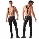Pantalon de latex con tirantes