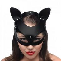 Máscara Gata de cuero