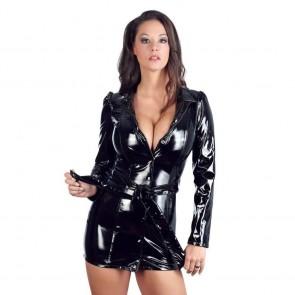 Abrigo mini vestido de vinilo