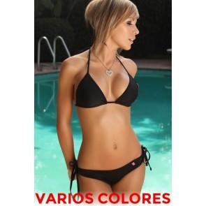 Bikini de triángulo con braguita brasileña