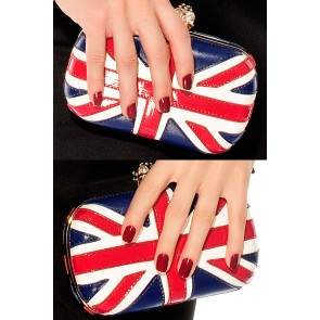 Bolso de fiesta clutch bandera UK