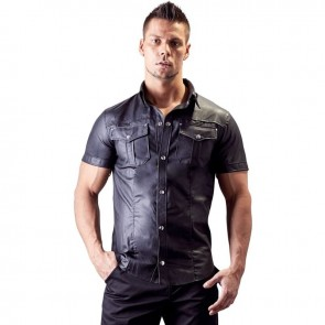 Camisa hombre cuero sintético