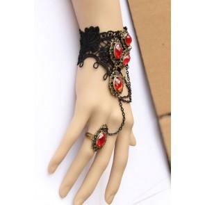 Conjunto gotico pulsera y anillo