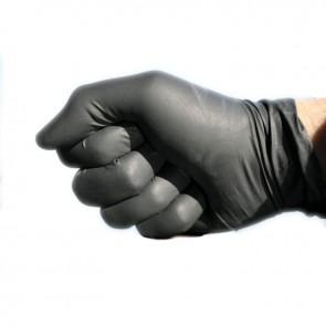 Guantes negros de rubber