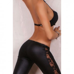 legging negro encaje lateral