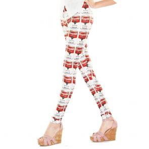 Leggings con estampado Pop Art