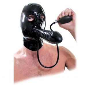 Mascara con pene inflable