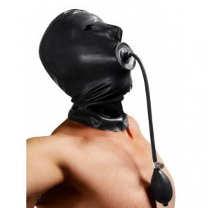 Mascara de látex con mordaza inflable
