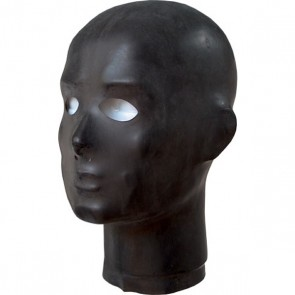 Mascara negra de látex con forma anatómica