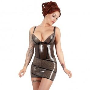 Mini vestido de látex