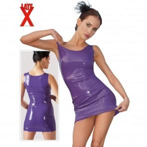 Vestido violeta de latex